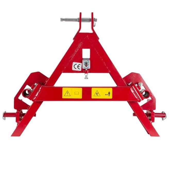 Boldgaffel | foldbar | Tre-punkts & enhed trekantmontering | Kat 1 og kat 2