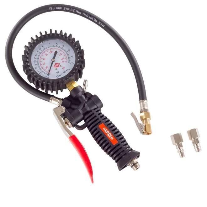 Reifenfüllmesser | 0 - 12 BAR | mit Manometer | von AIRPRESS