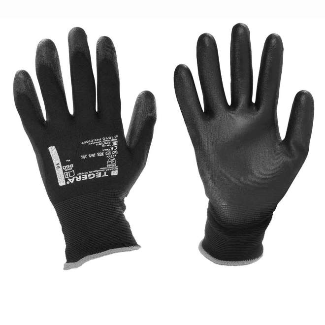 Montagehandschuhe | Größe 8 | Innenhand & Fingerspitzen PU-getaucht