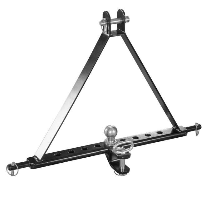 Ackerschiene | Kat 2 | verdrehsicher | 812 mm lang | 9 Löcher | mit Anhängerkugel | bis 85 PS