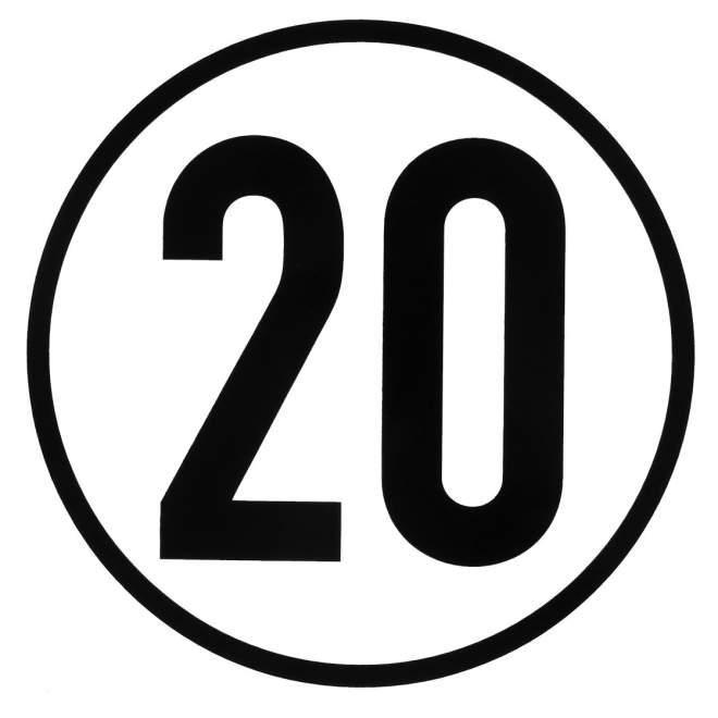 Geschwindigkeitsaufkleber   20 km/h