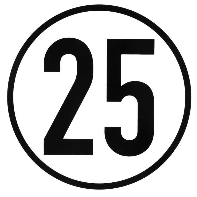 Geschwindigkeitsschild | Blech | geprägt | 25 km/h