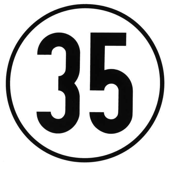 Geschwindigkeitsaufkleber | 35 km/h