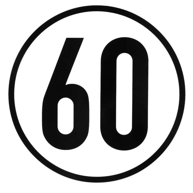 Geschwindigkeitsaufkleber | 60 km/h