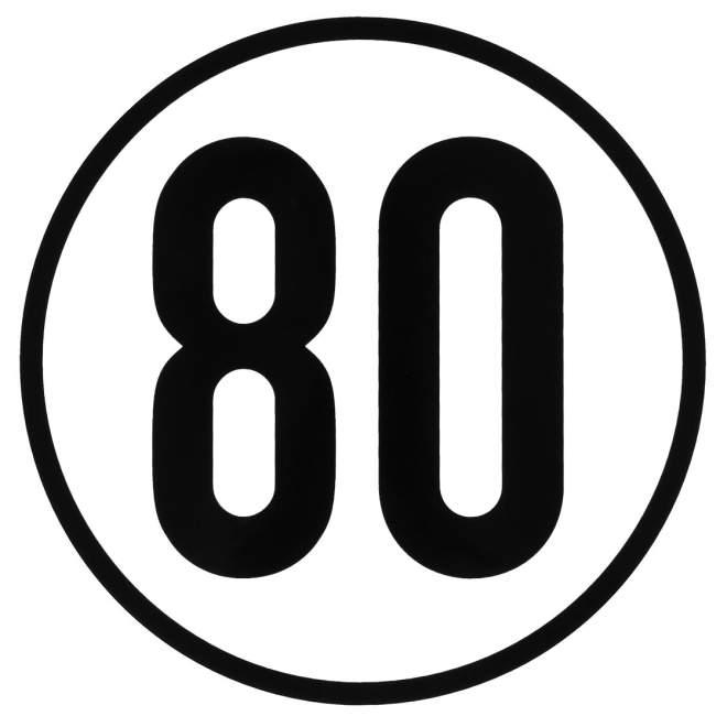 Geschwindigkeitsaufkleber | 80 km/h