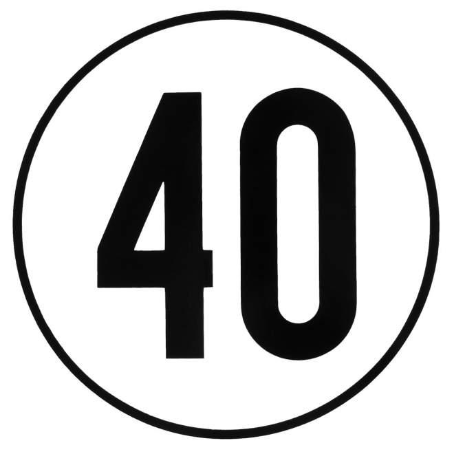 Geschwindigkeitsschild   Blech   geprägt   40 km/h