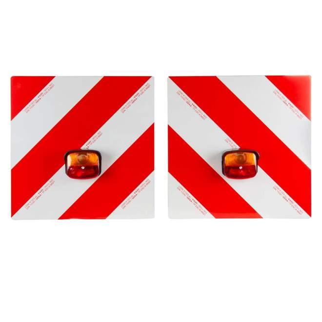 Warntafelsatz mit Leuchten   komplett verkabelt   7,5 Meter Anschlusskabel   1,8 Meter Zwischenkabel   mit Halterung für Winkeleisen