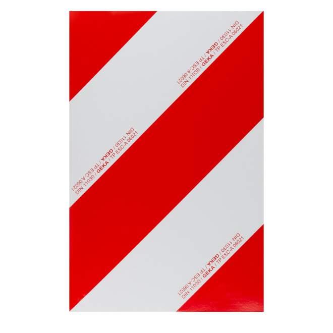 Warnfolie | zum Aufkleben | retroreflektierend | linksabweisend | 423 x 282 mm