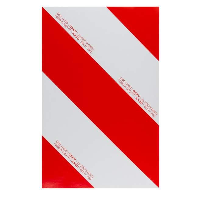 Warnfolie   zum Aufkleben   retroreflektierend   rechtsabweisend   423 x 282 mm