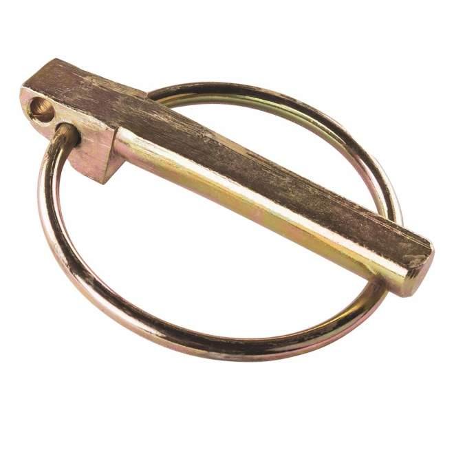 Klappsplint   9,5 x 45 mm   DIN 11023   mit 3. Loch   gelb verzinkt