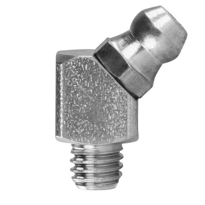 "Schmiernippel | Typ B | H2 R1/4"" | DIN 71412 | 45° abgewinkelt"