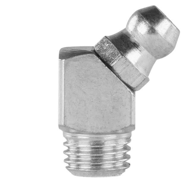 Schmiernippel   Typ B   H2M8 x 1   DIN 71412   45° abgewinkelt